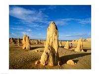 Rock formations in the desert, The Pinnacles Desert, Nambung National Park, Australia - various sizes