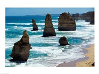 Rock formations on the coast, Twelve Apostles, Port Campbell National Park, Victoria, Australia Fine Art Print