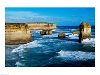 Rock formations on the coast, Port Campbell National Park, Victoria, Australia Fine Art Print