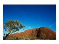 Rock formation on a landscape, Ayers Rock, Uluru-Kata Tjuta National Park, Northern Territory, Australia - various sizes