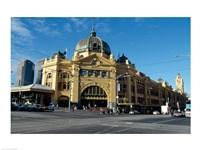 Facade of a railroad station, Flinders Street Station, Melbourne, Victoria, Australia - various sizes