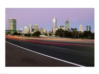 Streaks of light on a road, Perth, Australia - various sizes