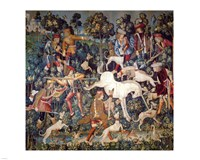 The Hunt of the Unicorn Tapestry Framed Print