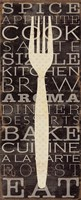 Kitchen Words I Fine Art Print