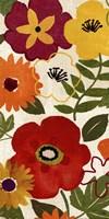 "Watercolor Garden Panel II by Pela - 12"" x 24"""