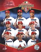 St. Louis Cardinals 2011 National League Champions Composite Fine Art Print
