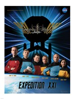Expedition 21 Star Trek Crew Poster Fine Art Print