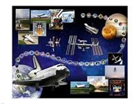 Space Shuttle Atlantis Tribute 1 Fine Art Print