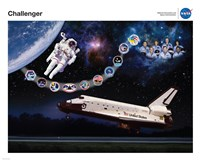 Space Shuttle Challenger Tribute Poster Fine Art Print