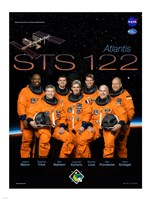 STS 122 Mission Poster - various sizes