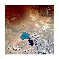 Cerros Colorados Argentina from Space Taken by Atlantis Fine Art Print