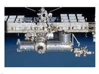 Close-up view of a section of the International Space Station - various sizes