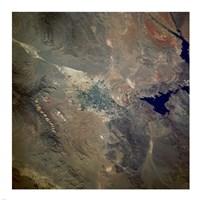 Las Vegas from space as taken by shuttle atlantis Fine Art Print
