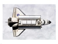 Shuttle Delivers ISS Module Fine Art Print