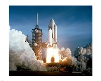 Space Shuttle Columbia launching Fine Art Print