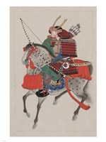 Samurai Riding a Horse Fine Art Print