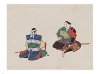 Seated Samurai Warriors Fine Art Print