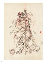 Samurai Sketch Fine Art Print