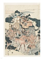 Samurai Battle I Fine Art Print