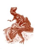 Triceratops with Tyrannosaurus Fine Art Print