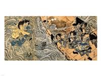 Kuniyoshi Utagawa, The ghost of Taira Tomomori, Daimotsu bay Fine Art Print