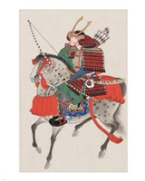 Samurai on horseback Fine Art Print