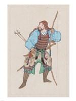 Samurai with bow - various sizes