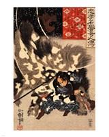 Yamamoto Kansuke fighting a giant boar - various sizes