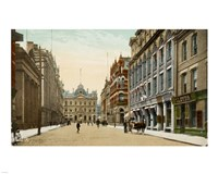 Postcard of Toronto street and post office, Toronto, Canada Fine Art Print