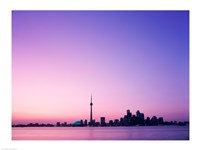 Buildings on the waterfront, Toronto, Ontario, Canada Fine Art Print