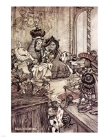 Alice in Wonderland, Who stole the Tarts Fine Art Print