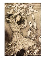 Alice in Wonderland - cards Fine Art Print