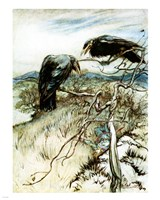 The Two Corbies Fine Art Print