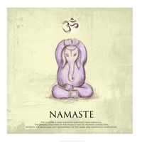Elephant Yoga, Namaste Pose by Veruca Salt - various sizes