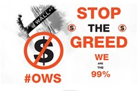 Stop The Greed - various sizes