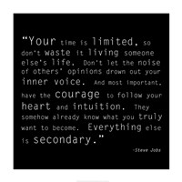 Time Quote Fine Art Print