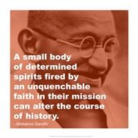 Gandhi - Determination Quote Fine Art Print