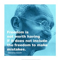 Gandhi - Freedom Quote Fine Art Print