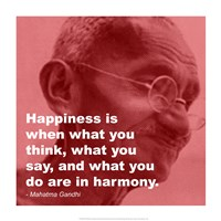 Gandhi - Happiness Quote Fine Art Print