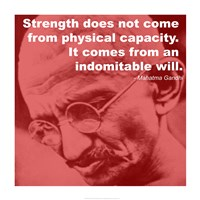 Gandhi - Strength Quote Fine Art Print