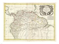 1771 Bonne Map of Tierra Firma, 1771 - various sizes
