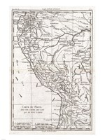 1780 Raynal and Bonne Map of Peru, 1780 - various sizes, FulcrumGallery.com brand