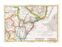 1780 Raynal and Bonne Map of South America, 1780 - various sizes, FulcrumGallery.com brand