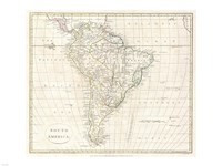 1796 Mannert Map of North America and South America Fine Art Print