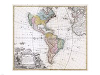1846 Homann Heirs Map of North America, 1846 - various sizes