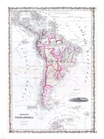 1861 Johnson Map of South America, 1861 - various sizes