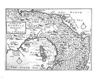 Map of the Isthmus of Darien and Panama Fine Art Print