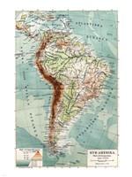 Syd-Amerika. Flod- och bergs system - various sizes