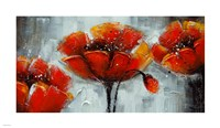 "14"" x 8"" Poppies Art"
