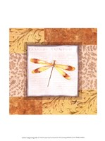 Collaged Dragonflies IV Fine Art Print